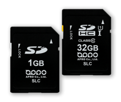 APRO Industrial SLC SD / SDHC Memory Card 128Mb - 32Gb SLC PHANES-F Series
